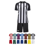 14ER SET CORE STRIPED TRIKOT + HOSE KINDER INKL. DRUCK UND BALL
