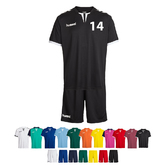 14ER SET CORE POLY JERSEY + SHORT KINDER INKL. DRUCK UND BALL