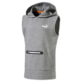 SPORT STYLE SLEEVELESS HOODED