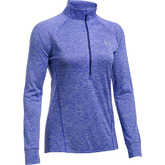 DAMEN LANGARMSHIRT UA TECH™ MIT ½ ZIP TWIST